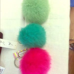 Accessories - Puff ball key chains. All colors NEW